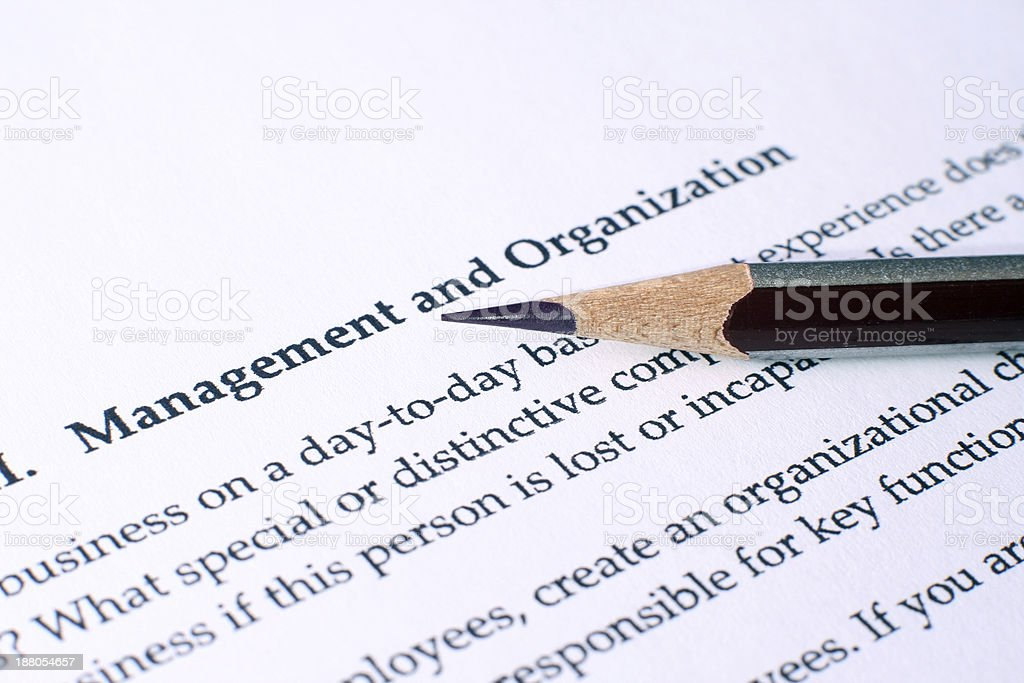 Management and organization stock photo