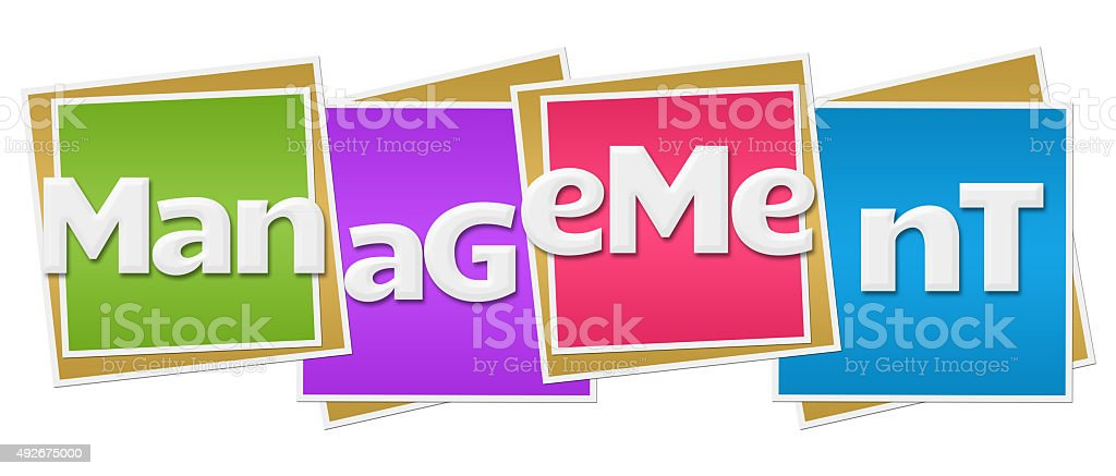 Management Colorful Blocks stock photo