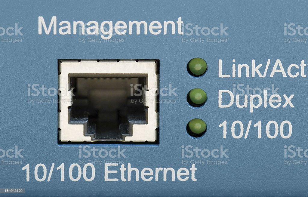 management ethernet plug stock photo