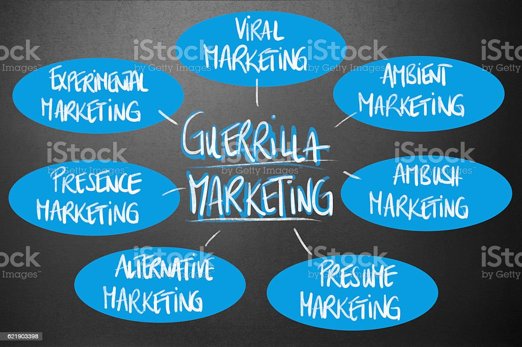 Management - Guerrilla Marketing stock photo