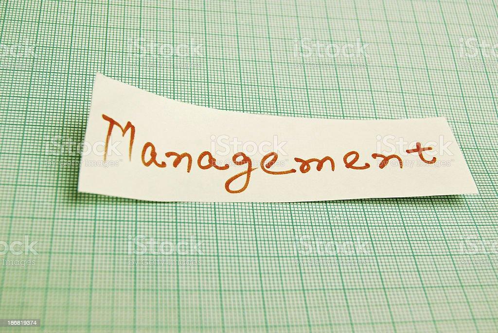 Management royalty-free stock photo