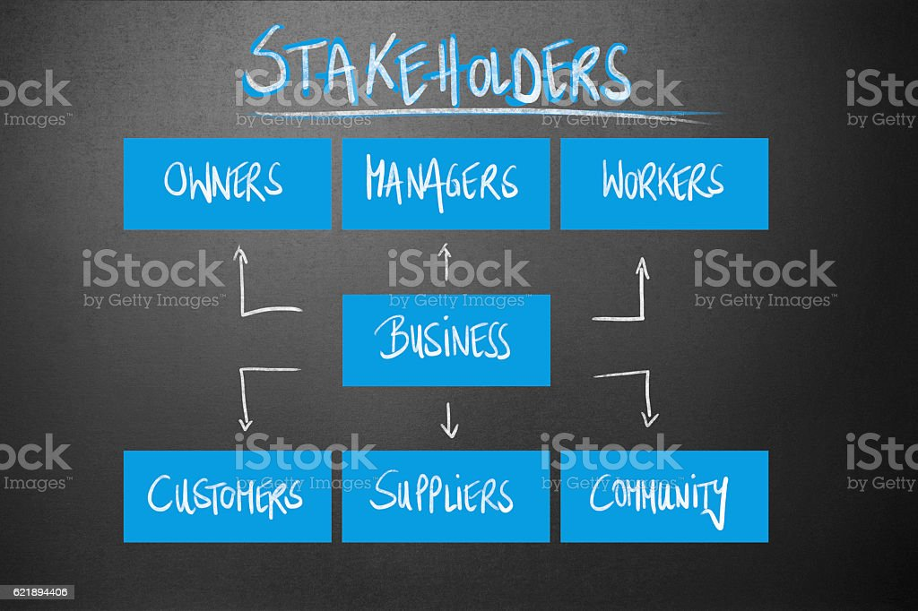 Management - Stakeholders stock photo