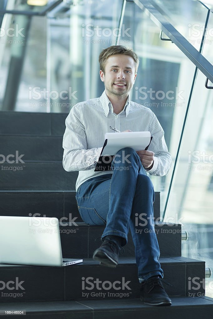 Manager at free atmosphere stock photo