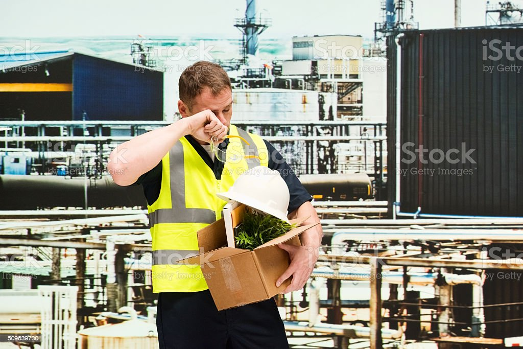 Manager fired from his job stock photo