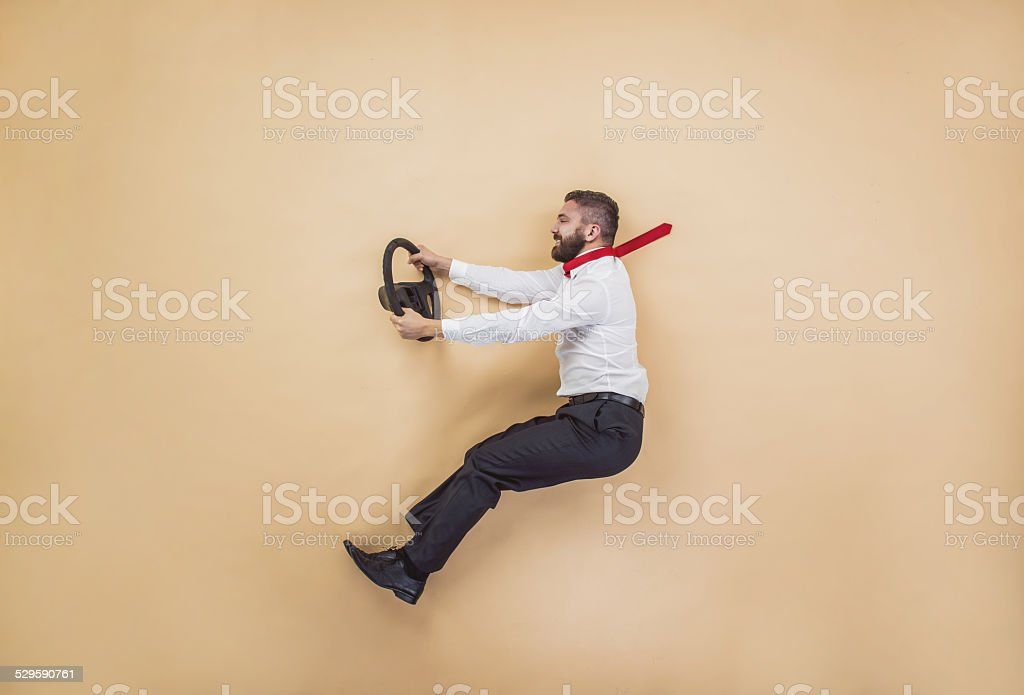Manager has an accident stock photo