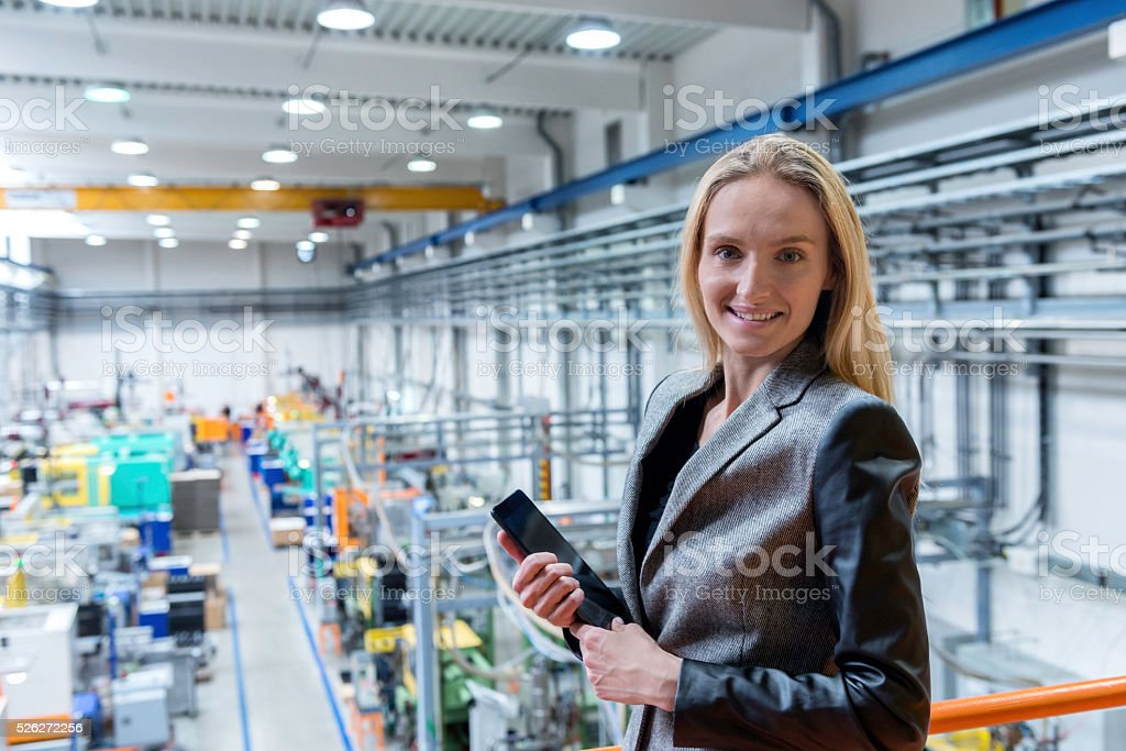 Manager in factory stock photo