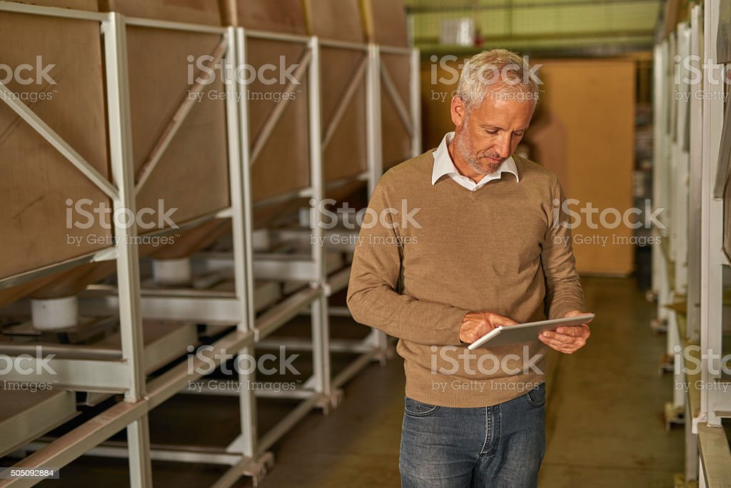 Portrait of manager in packaging and distribution center