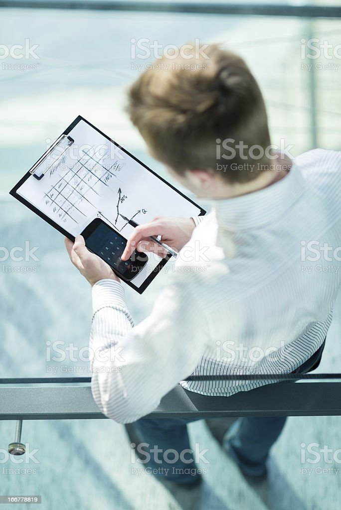 Manager made Calculations stock photo