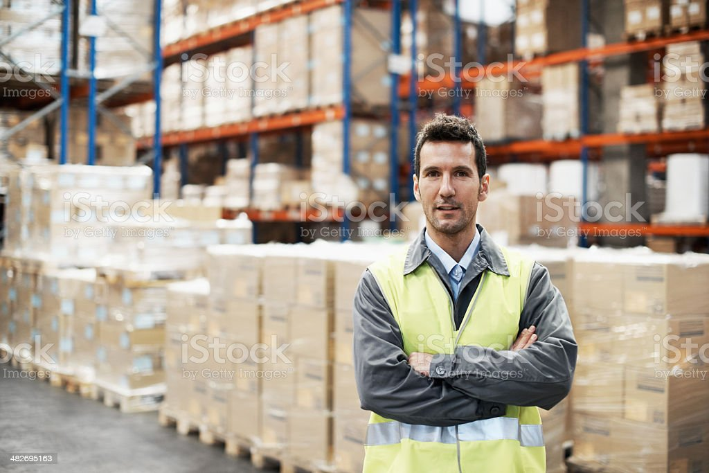 Manager of the warehouse royalty-free stock photo