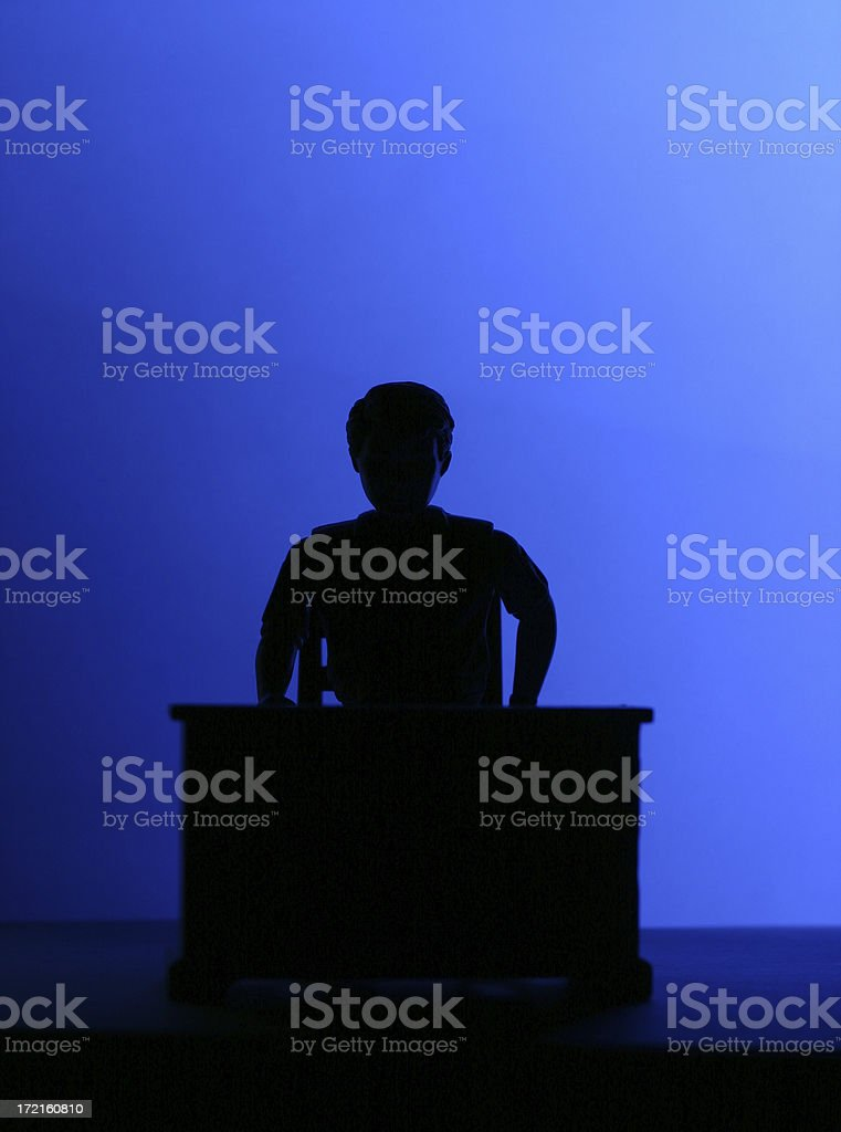 Manager - Silhouette royalty-free stock photo