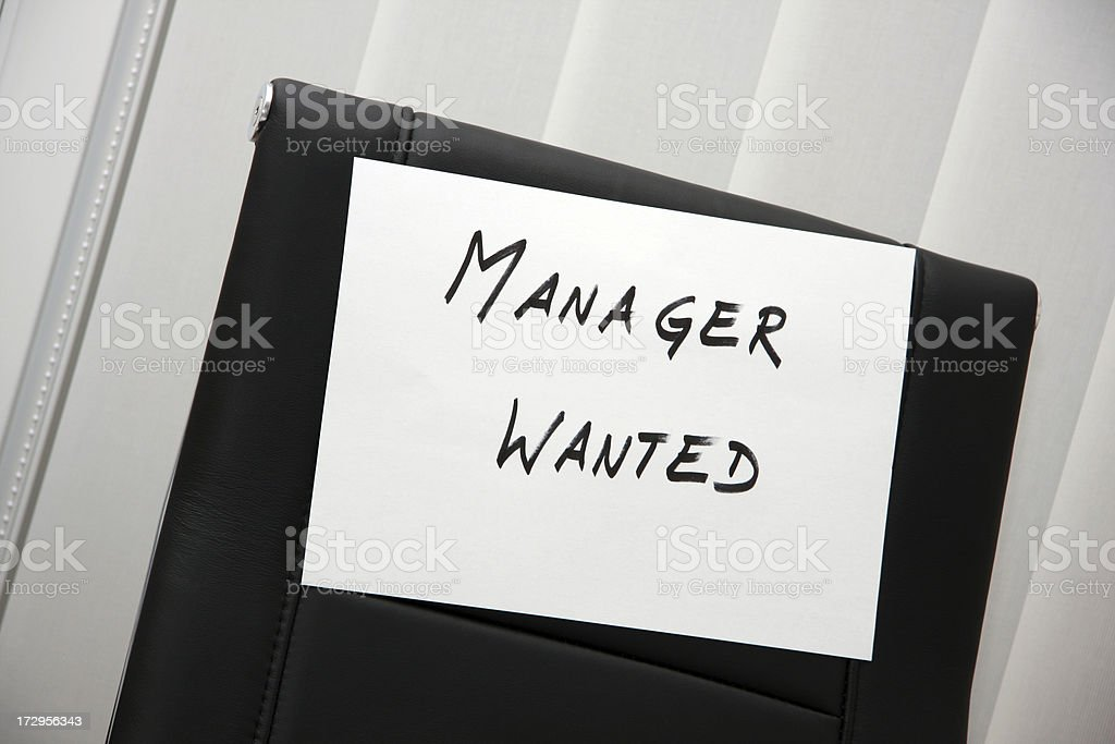 Manager wanted stock photo