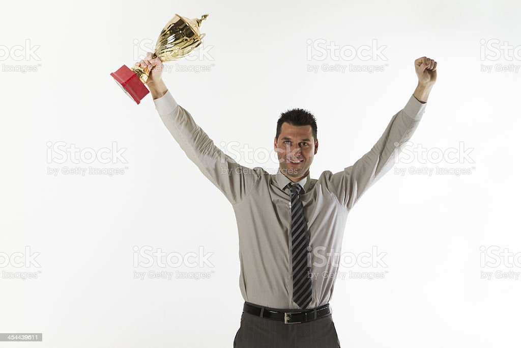 Manager with a cup royalty-free stock photo