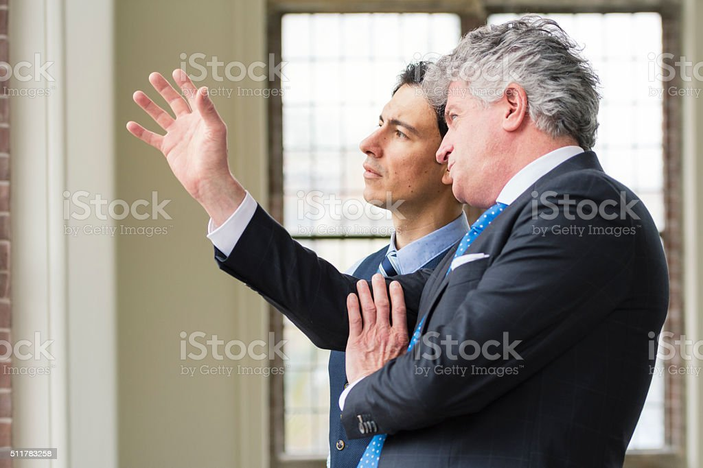 Manager with apprentice stock photo