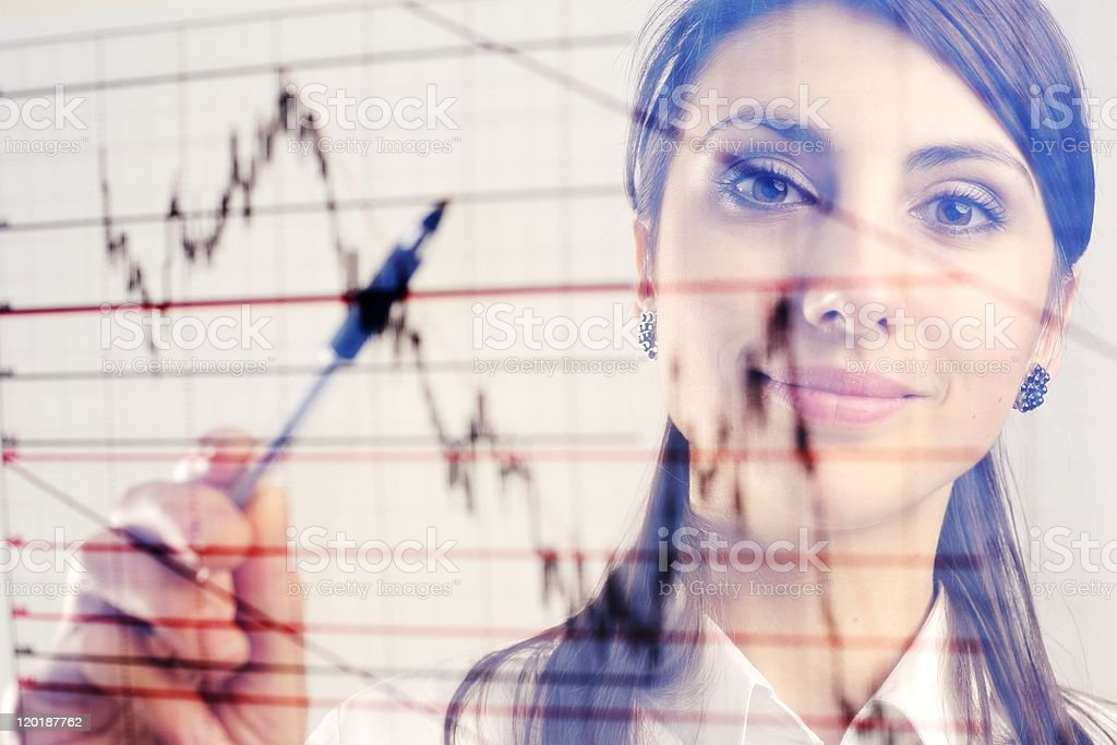 Manager with chart royalty-free stock photo
