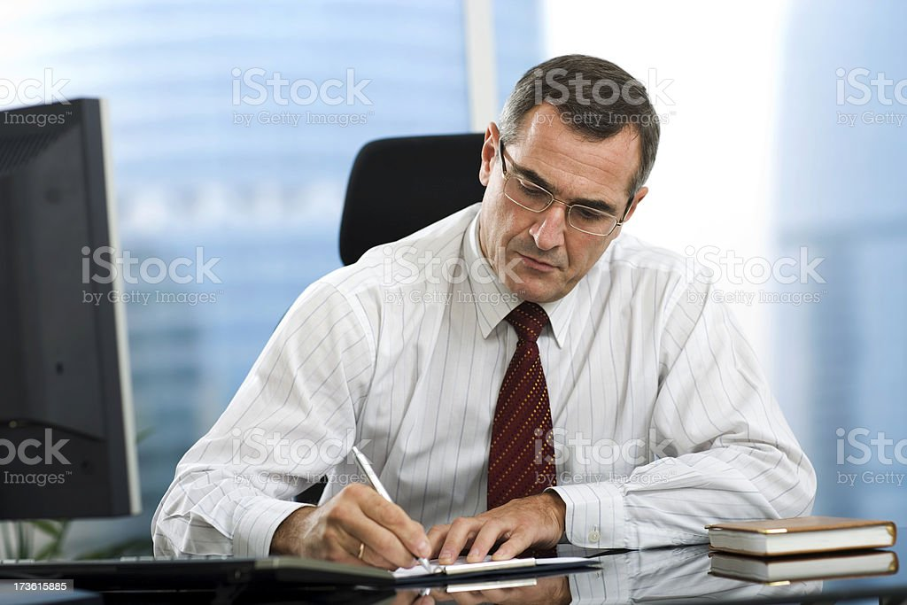 Manager's working day stock photo