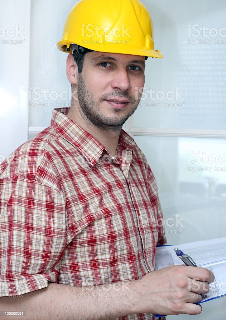 Manager,worker with hard hat royalty-free stock photo