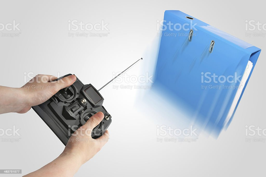 Managing a project metaphor stock photo