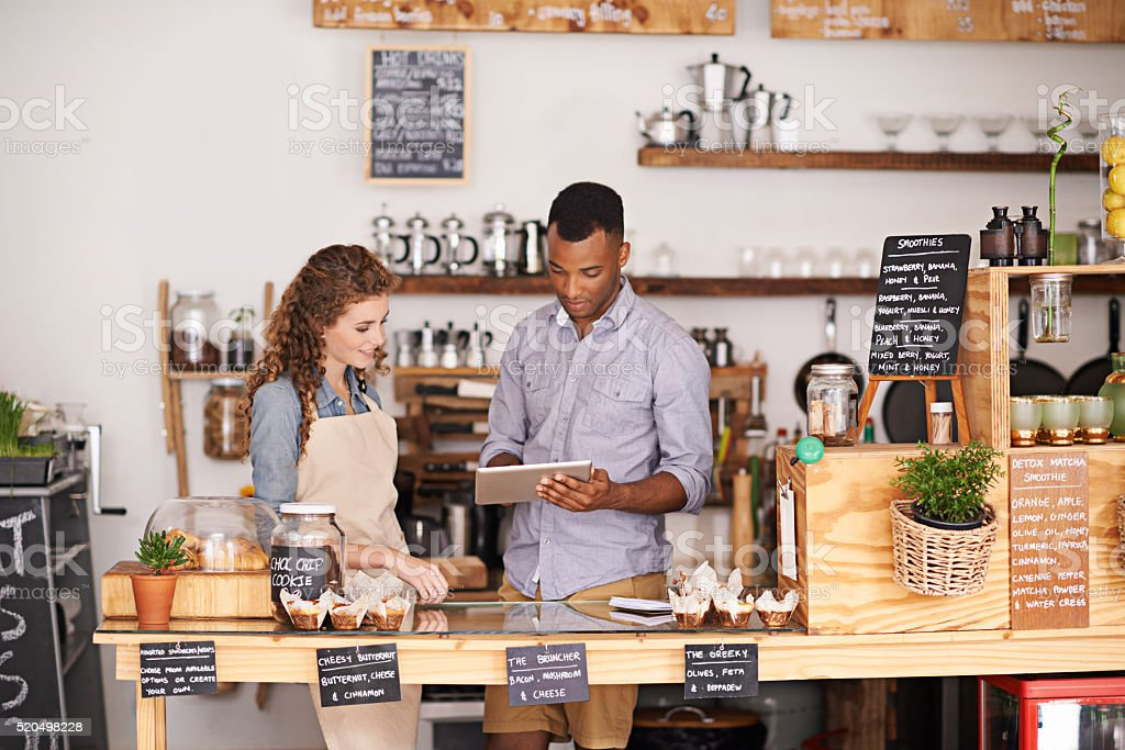 Managing a small business has never been easier with technology stock photo