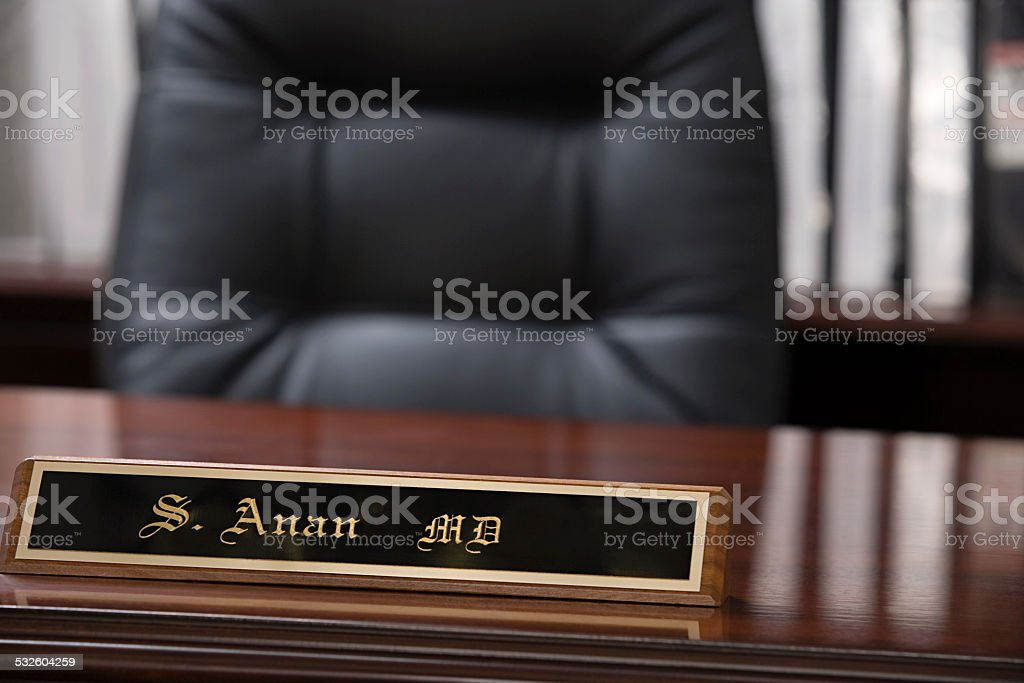 Managing directors office stock photo