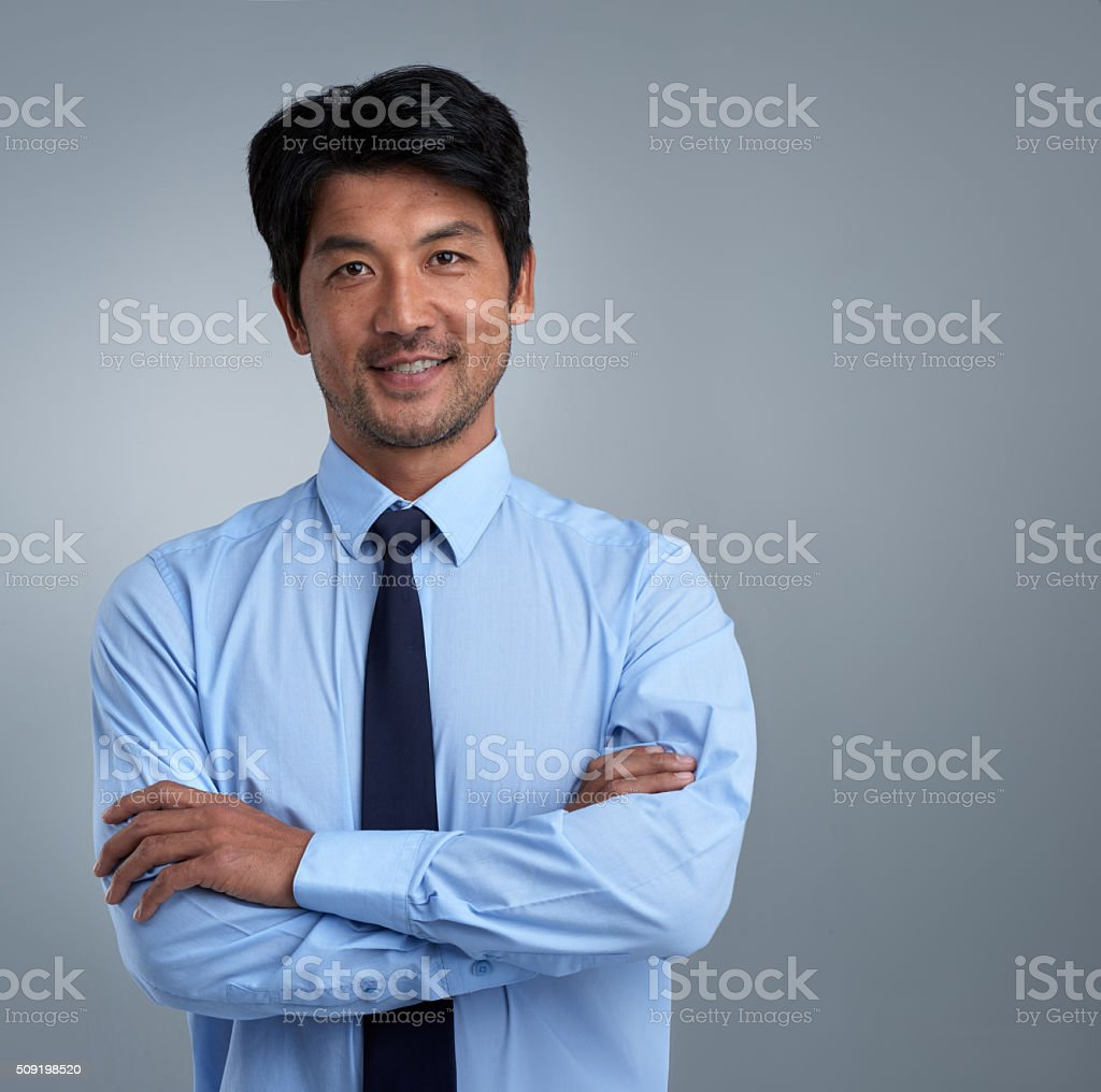 Managing my career with positivity and confidence stock photo
