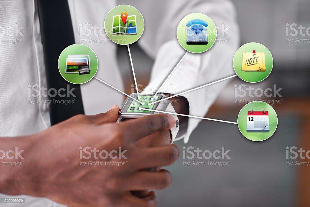 Managing my digital lifestyle stock photo