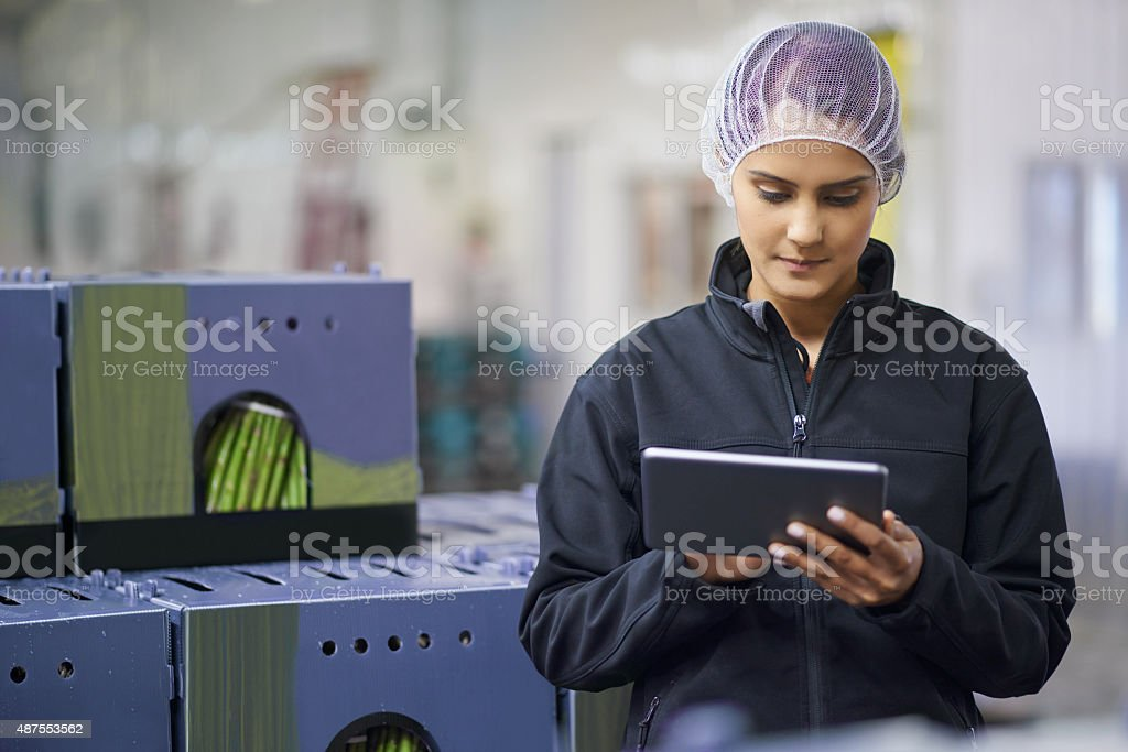 Managing stock levels with the help of technology stock photo