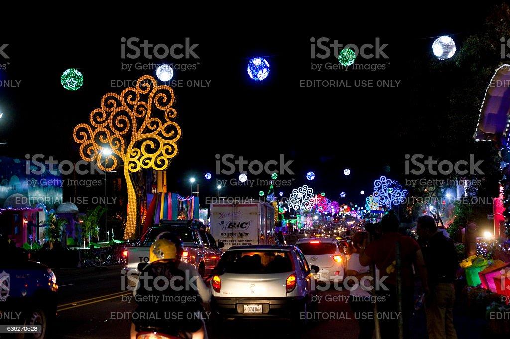 Managua Nativity Sets Traffic stock photo