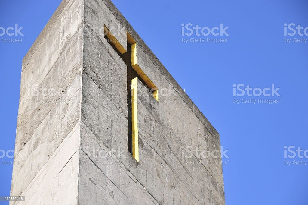Managua, Nicaragua: bell tower of the New Cathedral stock photo
