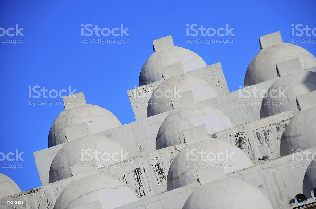 Managua, Nicaragua: domes of the New Cathedral stock photo