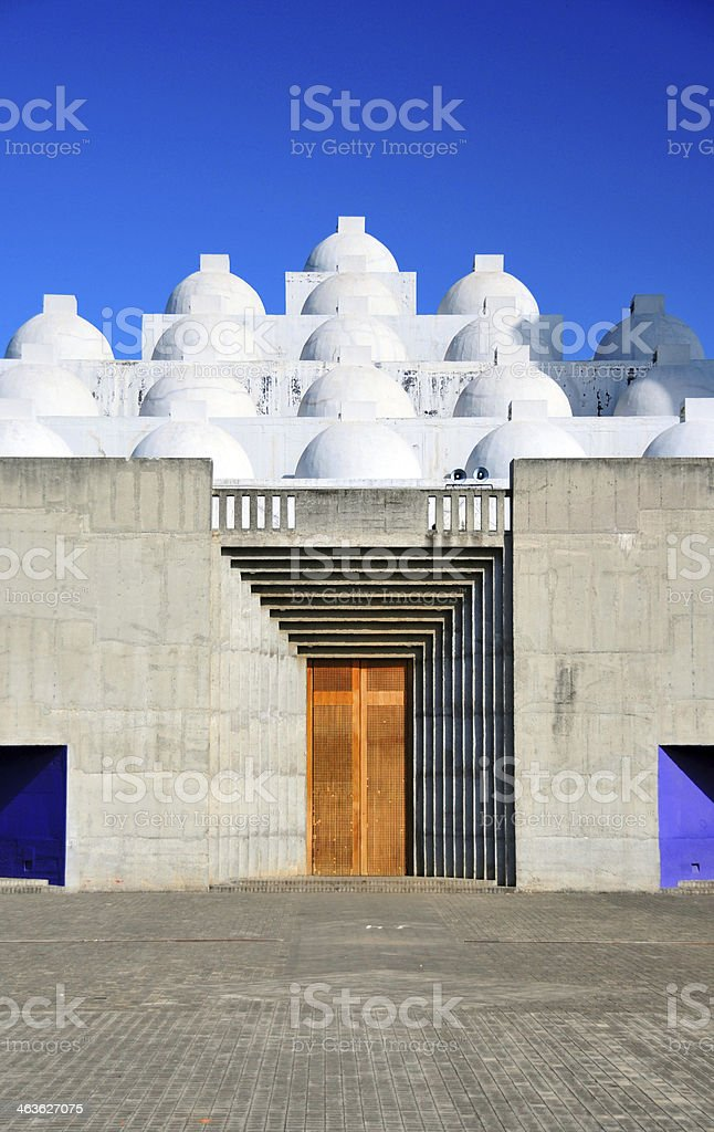Managua, Nicaragua: main entrance of the New Cathedral stock photo