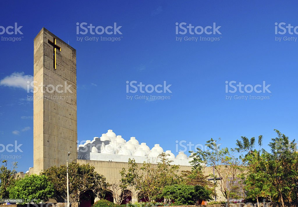 Managua, Nicaragua: the New Cathedral stock photo