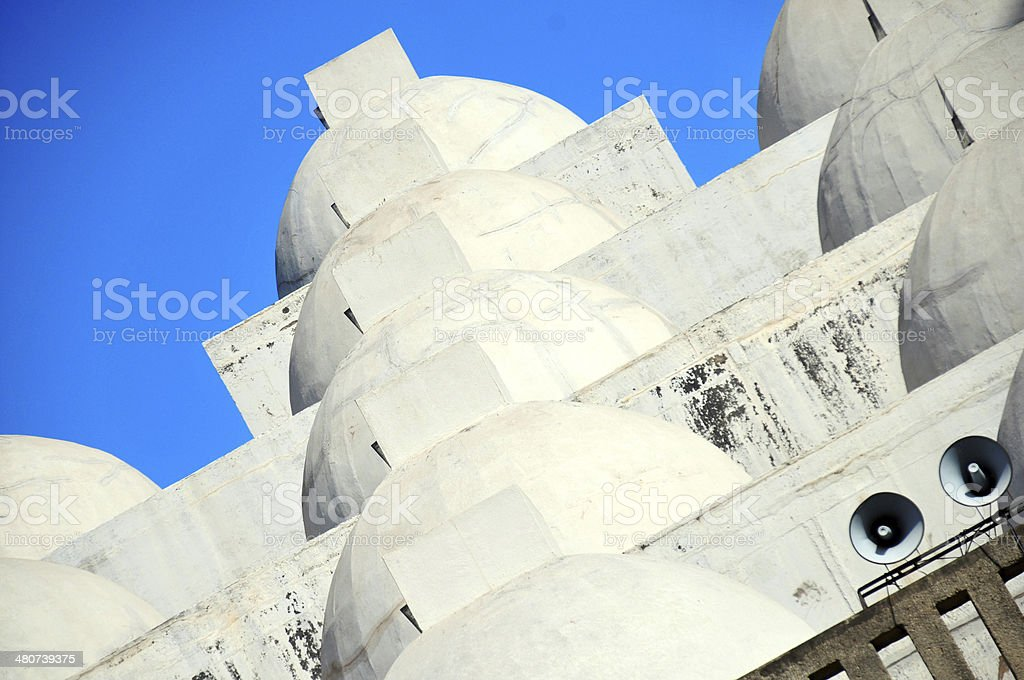 Managua, Nicaragua: white domes of the New Cathedral stock photo