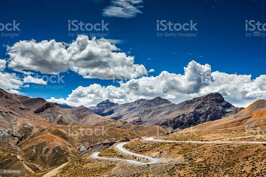 Manali-Leh road, Ladakh, India stock photo