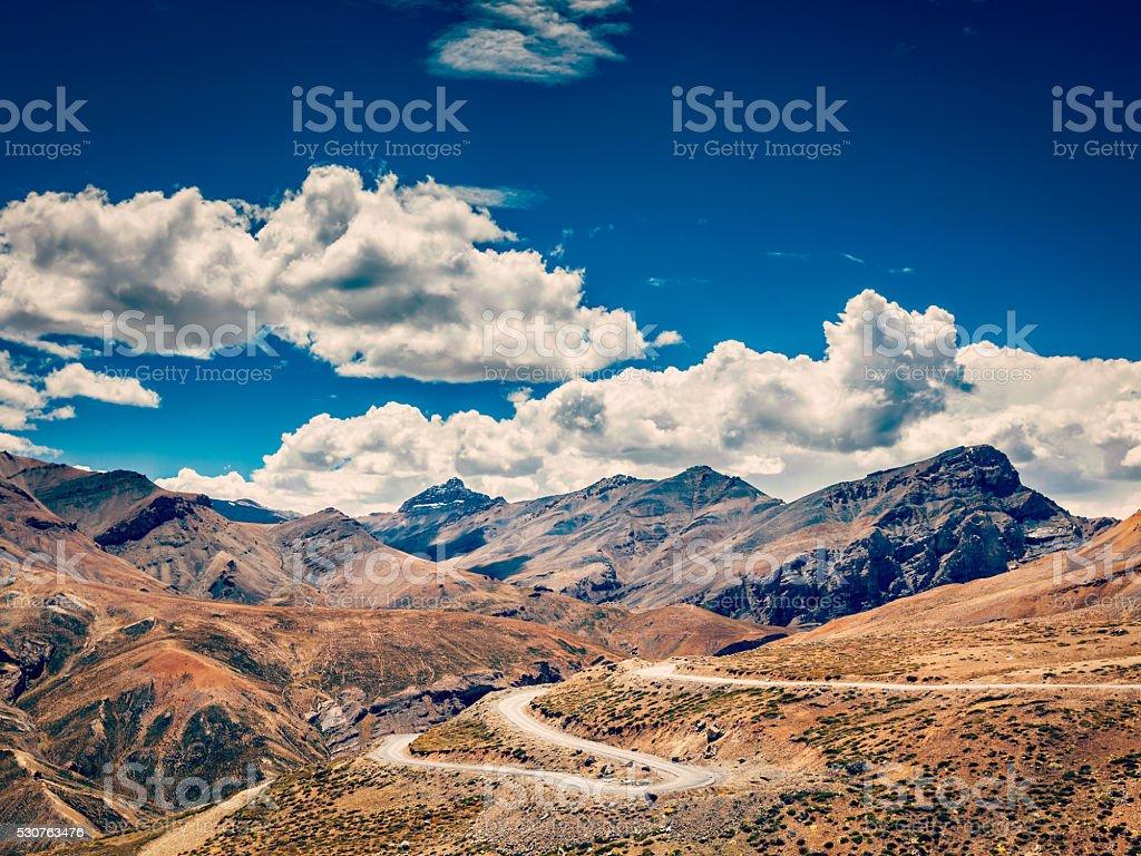 Manali-Leh road, Ladakh, India stock photo
