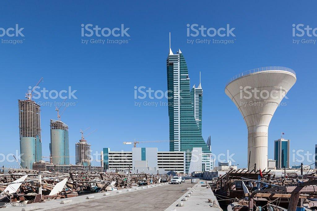 Manama Financial Harbour, Bahrain stock photo