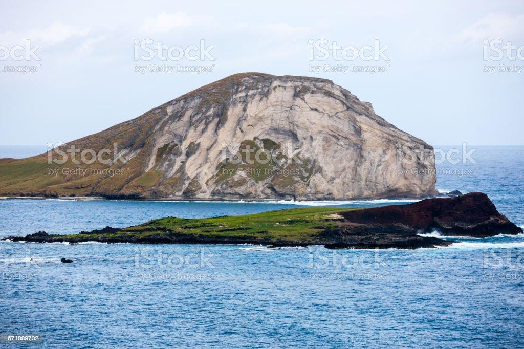 Manana, Rabbit Island, Hawaii stock photo