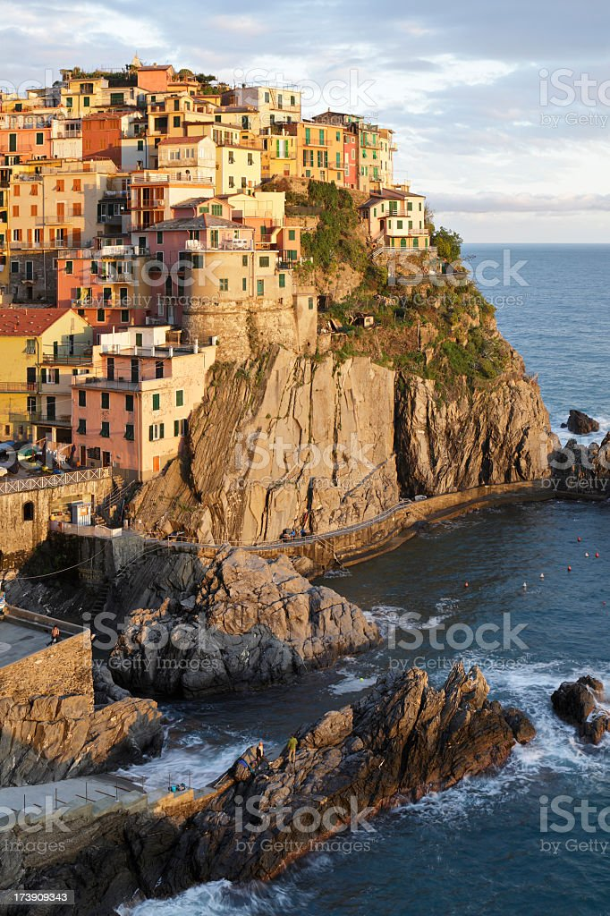 Manarola at Sunset stock photo