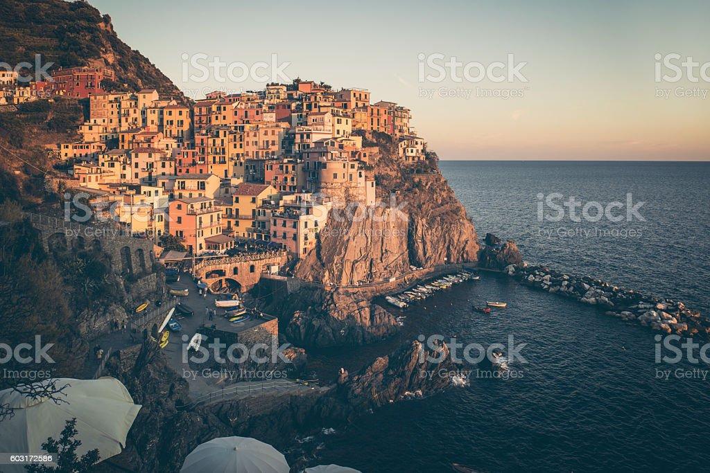 Manarola La Spezia Cinque Terre stock photo