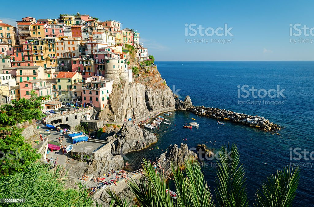 Manarola (Cinque Terre Italy) stock photo