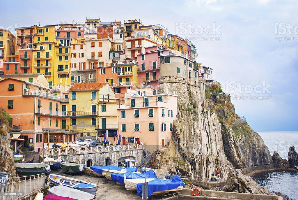 Manarola village, Italy stock photo