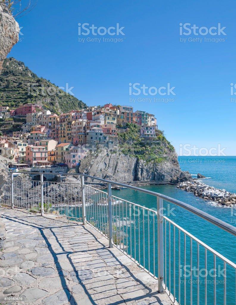Manarola,Cinque Terre,Liguria,Italy stock photo