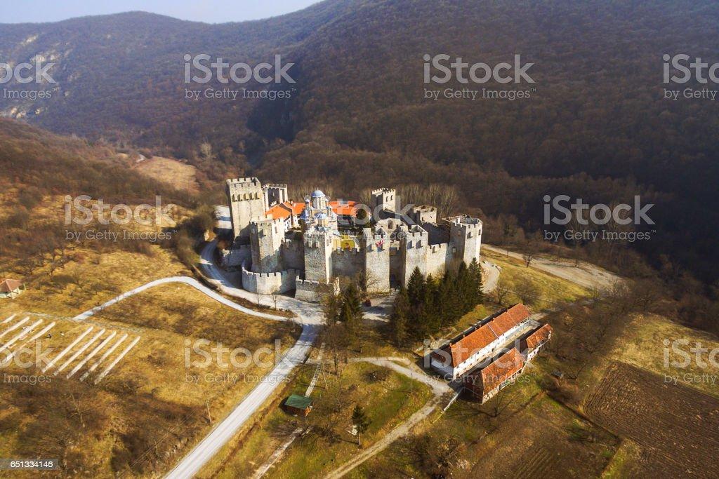 Manasija monastery stock photo