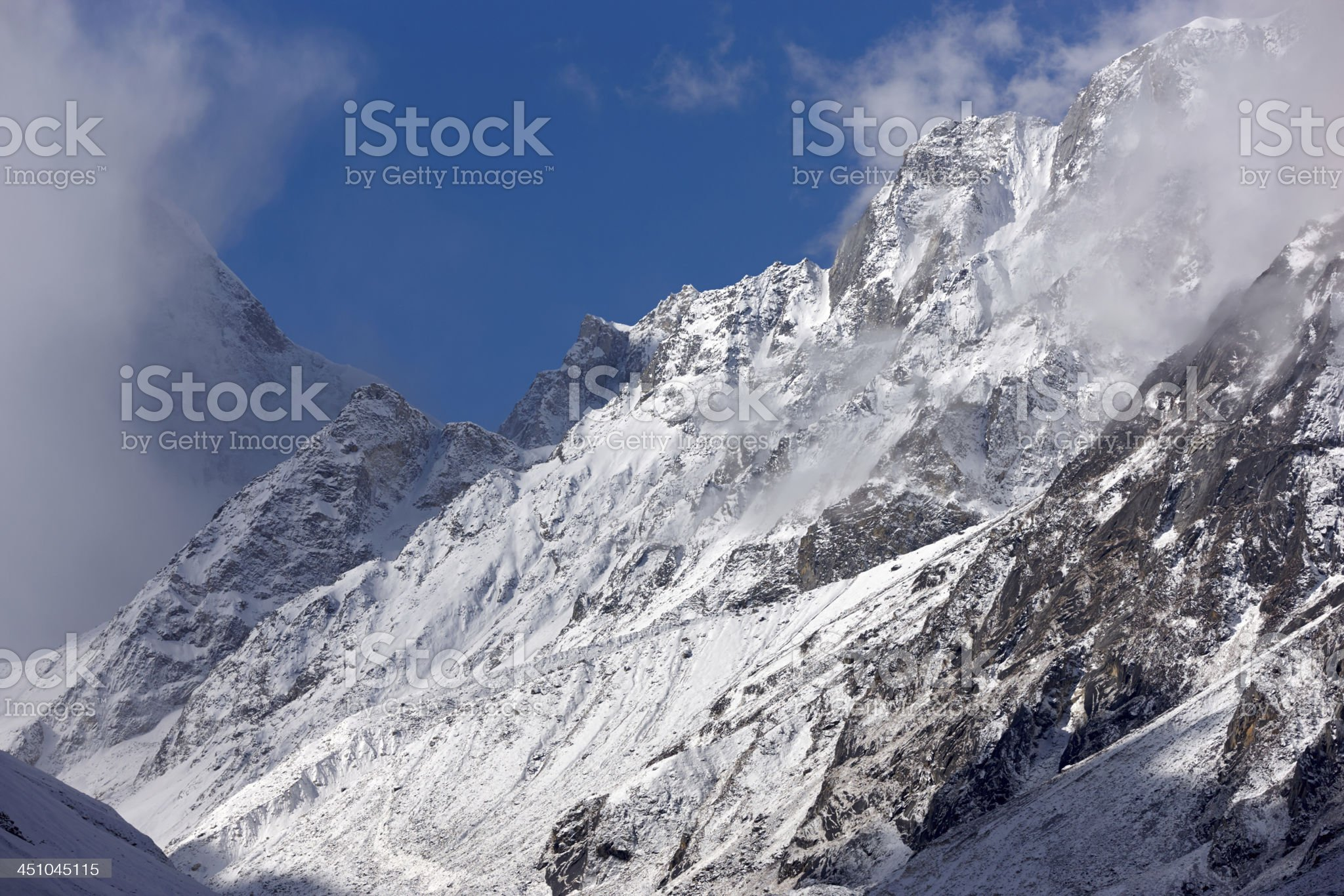 Manaslu. Everest Circuit. Nepal motives. royalty-free stock photo