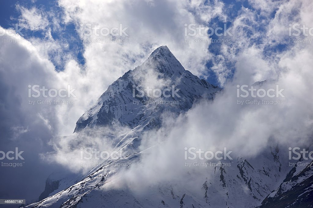Manaslu. Everest Circuit. Nepal motives. stock photo