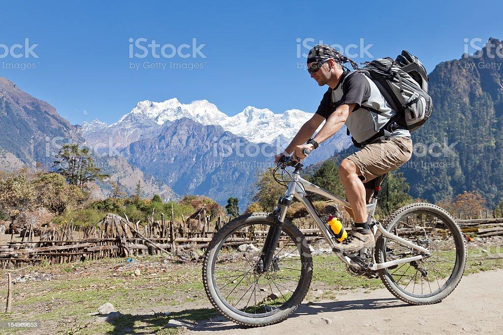 Manaslu view, Nepal royalty-free stock photo