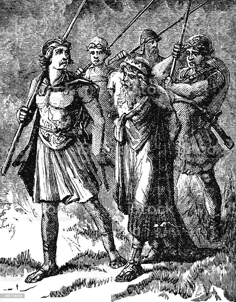 Manasseh Led Away Captive royalty-free stock photo