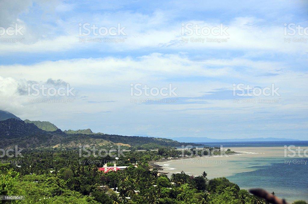 Manatuto, East Timor: the Banda Sea coast stock photo