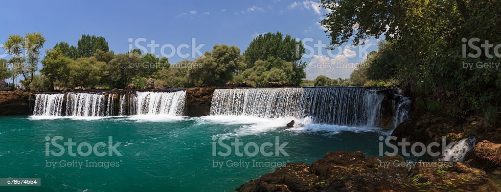 Manavgat waterfall in Turkey stock photo