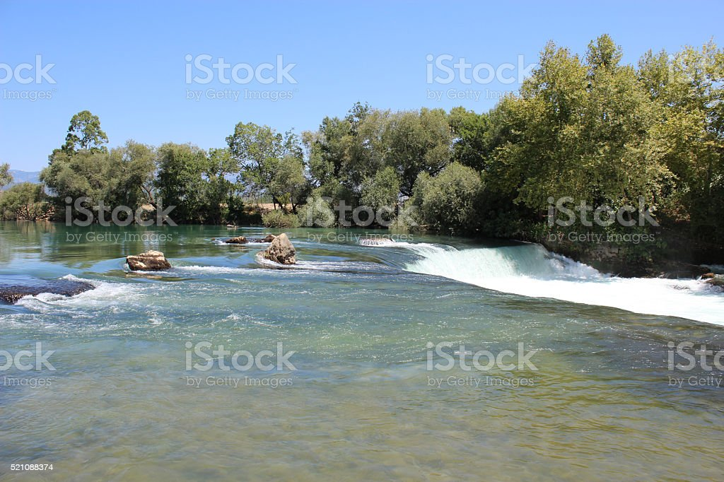Manavgat waterfall stock photo