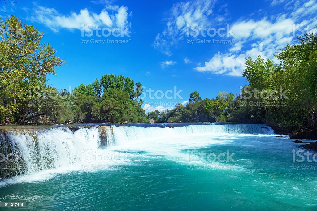 Manavgat waterfall, Turkey stock photo
